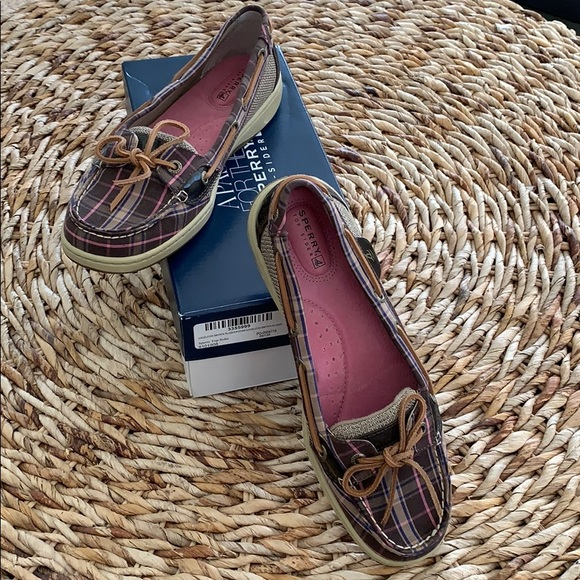Sperry Top Sider Angelfish Brown Plaid Loafer